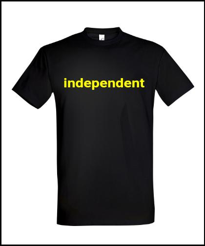 """Universalūs marškinėliai """"Nepriklausomas G"""", Marskineliai.lt, susikurkite savo marškinėlius"""
