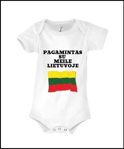 """Vaikiški bodžiukai """"Lietuvos pilietis"""", Marskineliai.lt, susikurkite savo marškinėlius"""