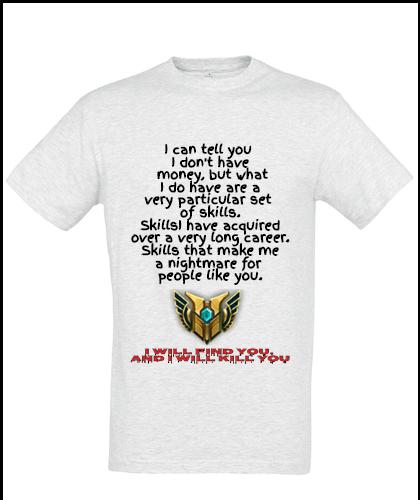 """Universalūs marškinėliai """"I will find you"""", Marskineliai.lt, susikurkite savo marškinėlius"""