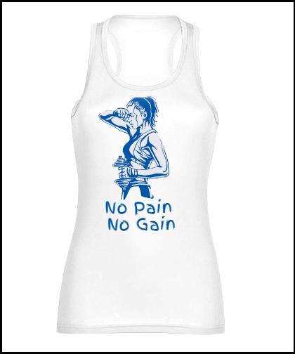 """Moteriški marškinėliai sportui Stedman """"No pain No Gain Fame"""", Marskineliai.lt, susikurkite savo marškinėlius"""