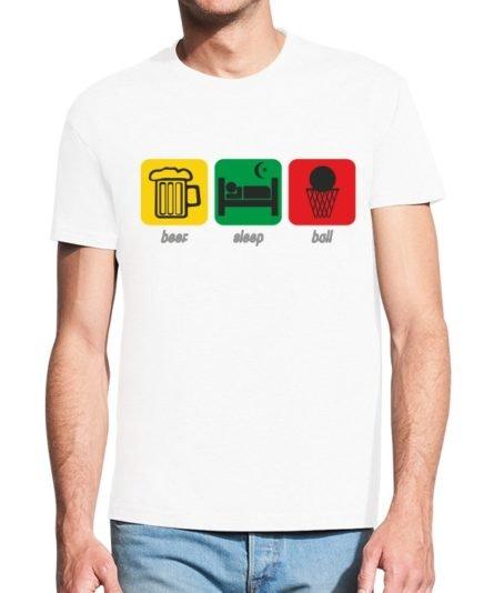 Vyriški marškinėliai su spauda Beer sleep ball