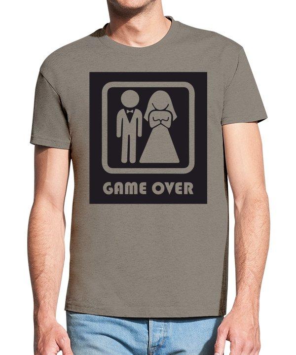 Vyriški marškinėliai su spauda Laukia vedyvos