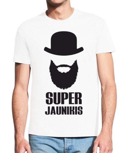Vyriški marškinėliai su spauda Super jaunikis