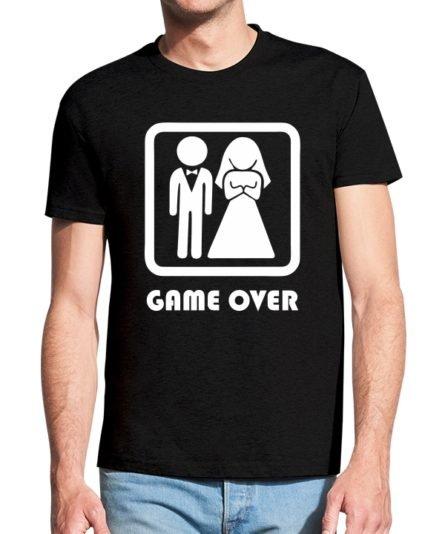 Vyriški marškinėliai su spauda Žaidimas baigėsi