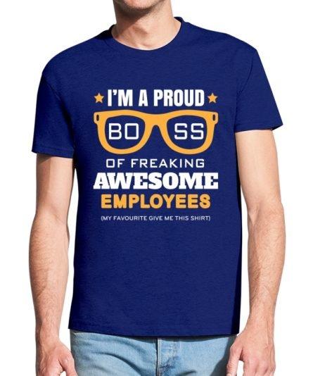Vyriški marškinėliai su spauda Proud boss