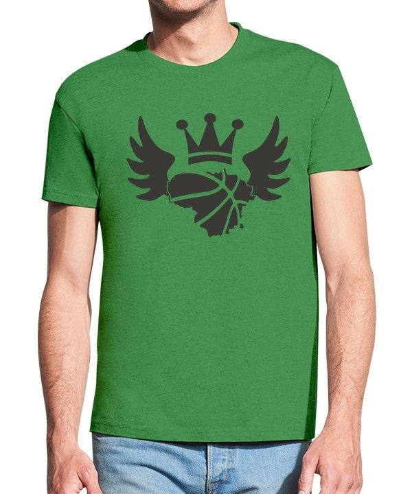 Vyriški marškinėliai su spauda Krepšinio angelas