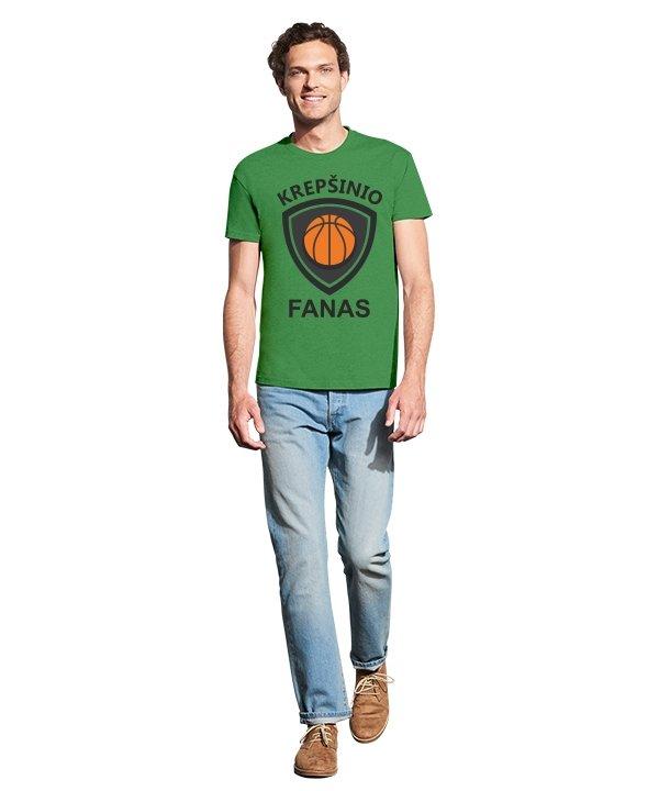Vyriški marškinėliai su spauda Krepšinio fanas