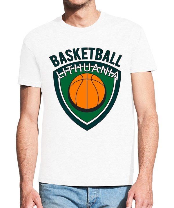 Vyriški marškinėliai su spauda Basketball Lithuania