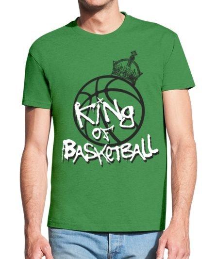 Vyriški marškinėliai su spauda King of basketball