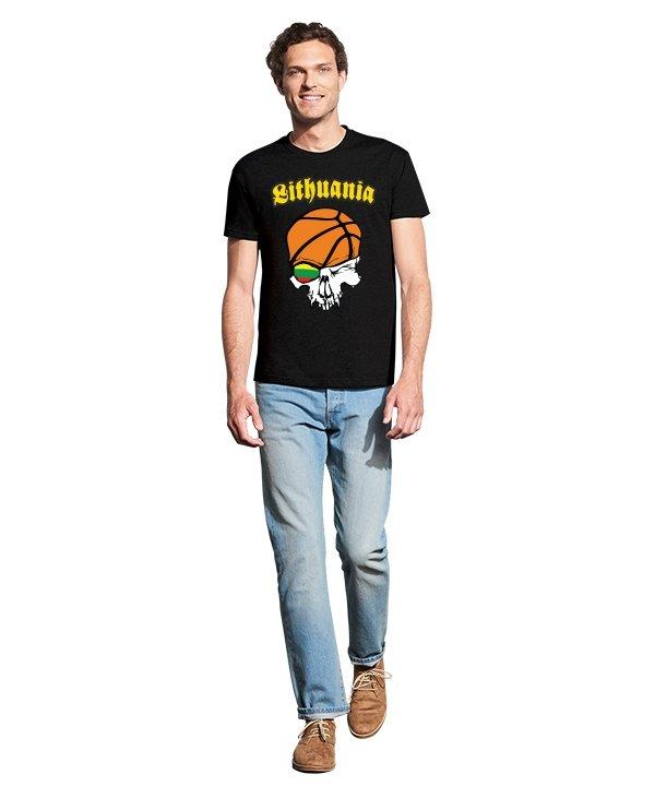 Vyriški marškinėliai su spauda Krepšinio piratas