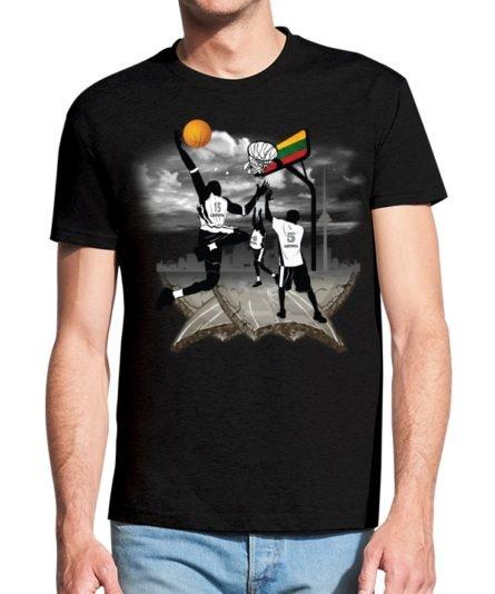 Vyriški marškinėliai su spauda Krepšinis Vilniuje