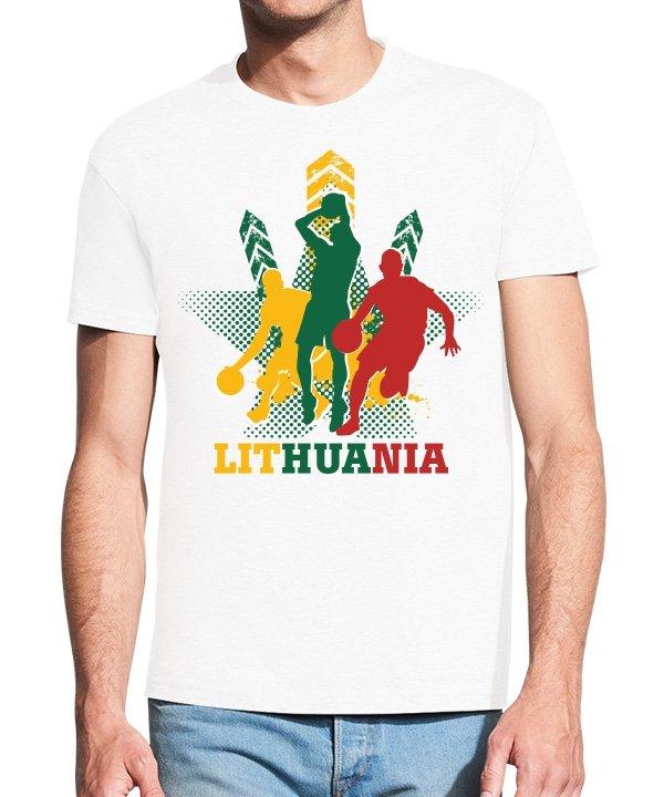 Vyriški marškinėliai su spauda Krepšinis Lithuania
