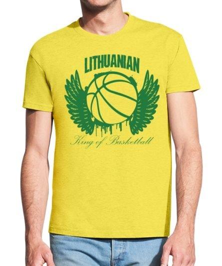 Vyriški marškinėliai su spauda Krepšinio karaliu