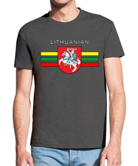Vyriški marškinėliai su spauda Lithuanian