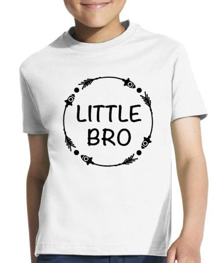 Vaikiški marškinėliai su spauda Little bro
