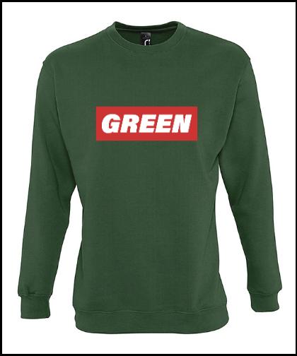 """Universalus džemperis """"Green-EDITION"""", Marskineliai.lt, susikurkite savo marškinėlius"""