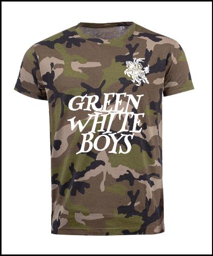"""Vyriški marškinėliai """"Green White Boys"""", Marskineliai.lt, susikurkite savo marškinėlius"""