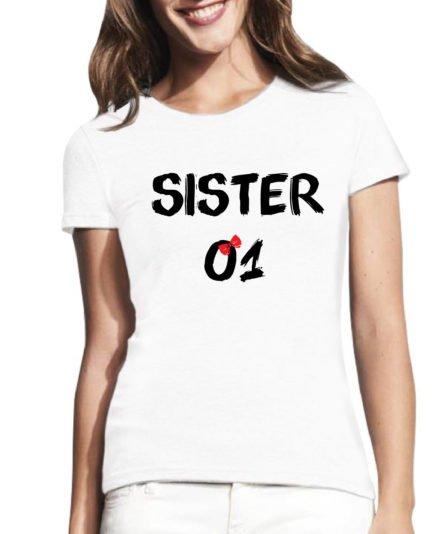 Moteriški marškinėliai su spauda Sister 01