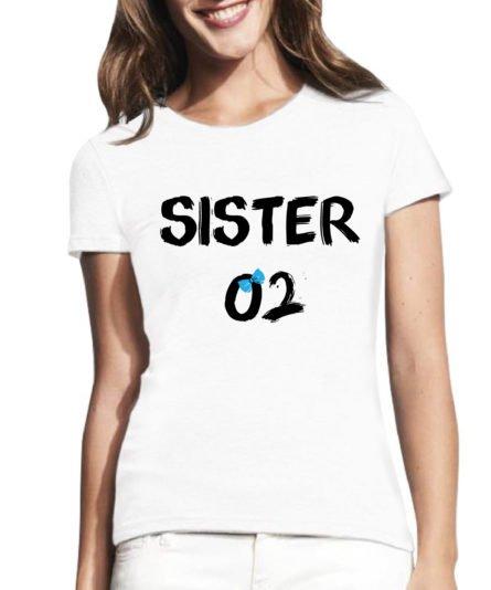 Moteriški marškinėliai su spauda Sister 02
