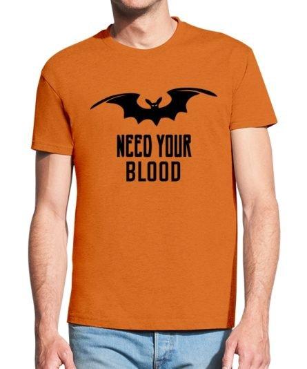 Vyriški marškinėliai su spauda Need your blood