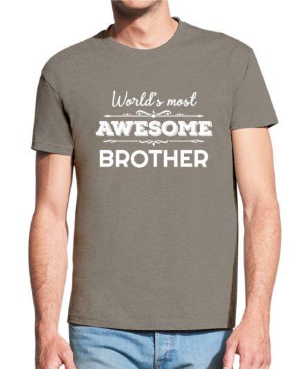 Vyriški marškinėliai su spauda Awesome brother