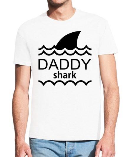Vyriški marškinėliai su spauda Daddy Shark