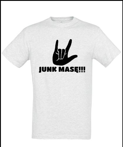 """Universalūs marškinėliai """"junk masę!!!"""", Marskineliai.lt, susikurkite savo marškinėlius"""