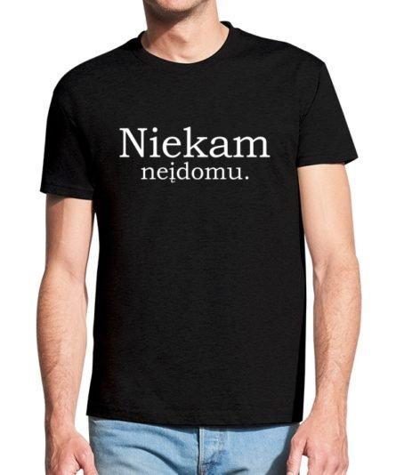 Vyrikški marškinėliai su spauda Niekam neįdomu